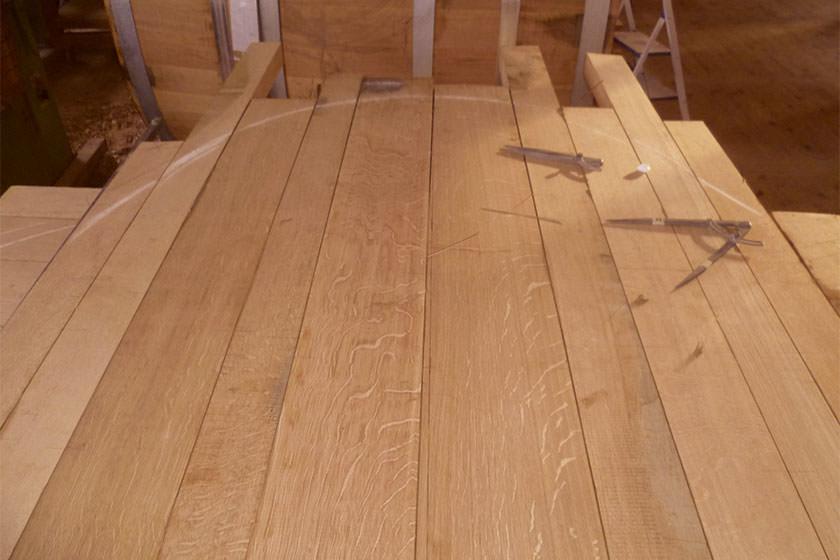 HOLZFASSHERSTELLUNG – Vermaßung des Holzes ©fassmanufaktur mattern