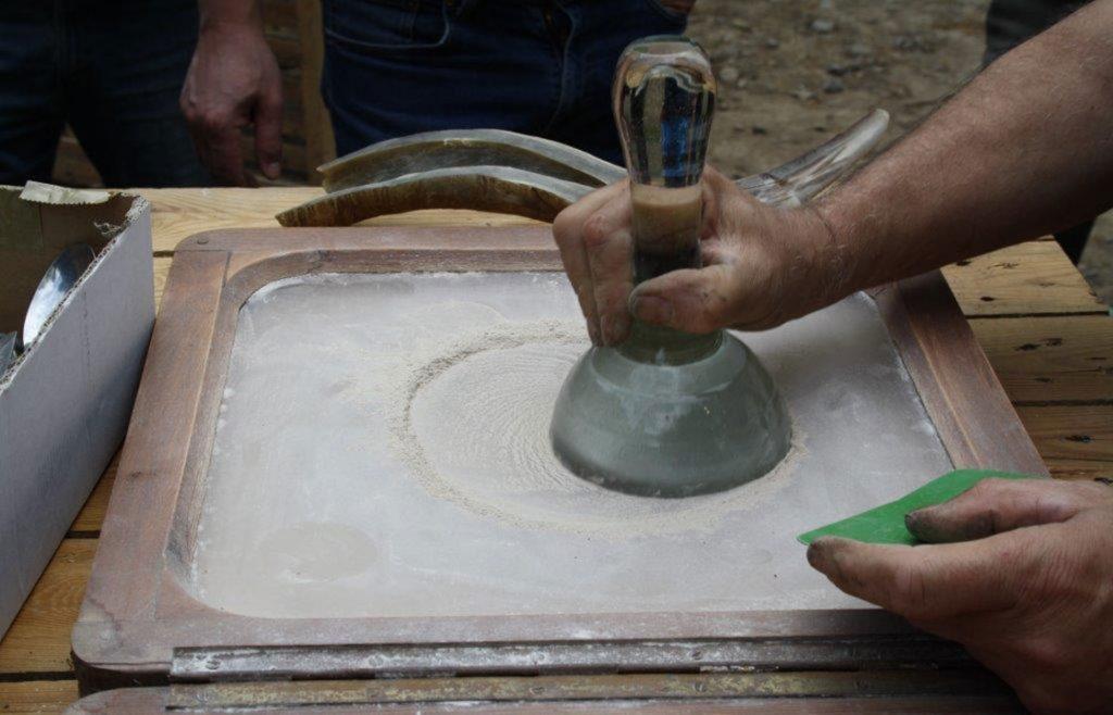 Pulverisierung des Kiesels